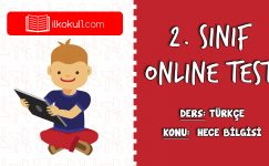 2. Sınıf Türkçe -HECE BİLGİSİ- Online Test