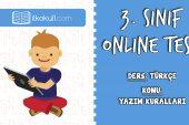 3. Sınıf Türkçe -YAZIM KURALLARI- Online Test