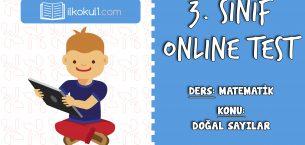 3. Sınıf Matematik -DOĞAL SAYILAR- Online Test