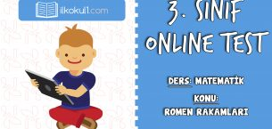 3. Sınıf Matematik -ROMEN RAKAMLARI- Online Test