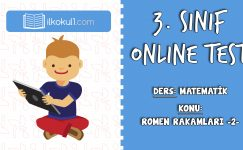 3. Sınıf Matematik -ROMEN RAKAMLARI 2- Online Test