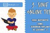 3. Sınıf Matematik -ZİHİNDEN TOPLAMA VE ÇIKARMA 2- Online Test
