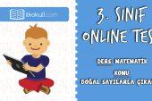 3. Sınıf Matematik -DOĞAL SAYILARLA ÇIKARMA- Online Test