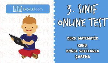 3. Sınıf Matematik -DOĞAL SAYILARLA ÇARPMA İŞLEMİ- Online Test