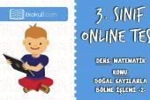 3. Sınıf Matematik -DOĞAL SAYILARLA BÖLME İŞLEMİ 2- Online Test