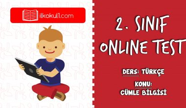 2. Sınıf Türkçe -CÜMLE BİLGİSİ- Online Test