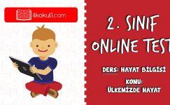 2. Sınıf Hayat Bilgisi -ÜLKEMİZDE HAYAT- Online Test