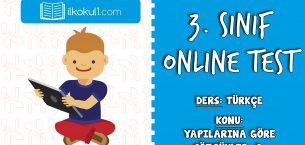 3. Sınıf Türkçe -YAPILARINA GÖRE SÖZCÜKLER 2- Online Test