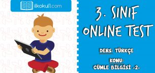 3. Sınıf Türkçe -CÜMLE BİLGİSİ 2- Online Test