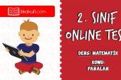 2. Sınıf Matematik -PARALARIMIZ- Online Test
