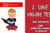 2. Sınıf Matematik -GEOMETRİK CİSİMLER VE ŞEKİLLER- Online Test