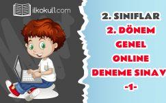 2. Sınıflar 2. Dönem Online Genel Deneme Sınavı -1-