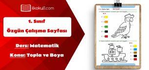 1. Sınıf Matematik Toplama ve Boya Etkinlik Sayfası