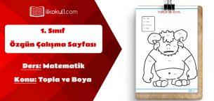 1. Sınıf Matematik Topla ve Boya Etkinlik Sayfası