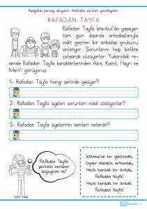 1. sınıf okuma anlama