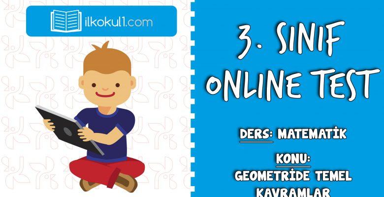 3. Sınıf Matematik -GEOMETRİDE TEMEL KAVRAMLAR- Online Test