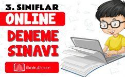 3. Sınıflar 2. Dönem Online Genel Deneme Sınavı -6-
