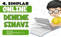 4. Sınıflar 2. Dönem Online Genel Deneme Sınavı -6-