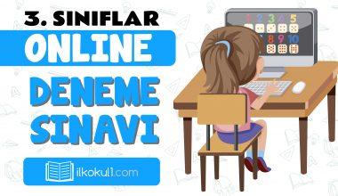 3. Sınıflar 2. Dönem Online Genel Deneme Sınavı -3-