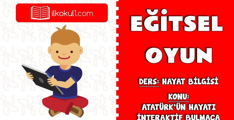 Atatürk'ün Hayatı Bulmaca Etkinliği