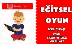 Yazım ve İmlâ Kuralları Eğitsel Oyun