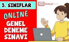 3. Sınıflar 2. Dönem Online Genel Deneme Sınavı -8-