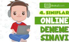 4. Sınıflar 2. Dönem Online Genel Deneme Sınavı -10-