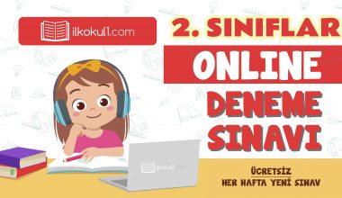 2. Sınıflar 2. Dönem Online Genel Deneme Sınavı -11-