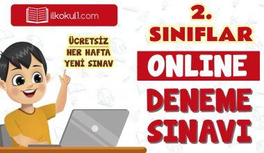 2. Sınıflar 2. Dönem Online Genel Deneme Sınavı -14-