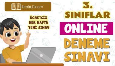 3. Sınıflar 2. Dönem Online Genel Deneme Sınavı -14-