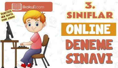 3. Sınıflar 2. Dönem Online Genel Deneme Sınavı -15-