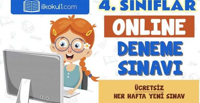4. Sınıflar 2. Dönem Online Genel Deneme Sınavı -13-