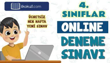 4. Sınıflar 2. Dönem Online Genel Deneme Sınavı -14-