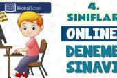 4. Sınıflar 2. Dönem Online Genel Deneme Sınavı -15-