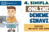 4. Sınıflar 2. Dönem Online Genel Deneme Sınavı -12-