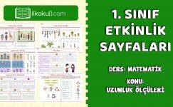 1. Sınıf Uzunlukları Ölçme Etkinlik Sayfaları