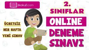 2. Sınıflar 2. Dönem Online Genel Deneme Sınavı -16-