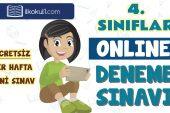 4. Sınıflar 2. Dönem Online Genel Deneme Sınavı -16-