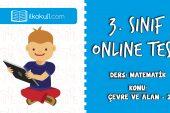 3. Sınıf Matematik -ÇEVRE ve ALAN 2- Online Test