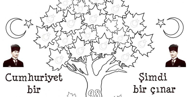 Cumhuriyet Bayramı Boyama Sayfaları